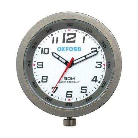 Oxford Clock Analogue Titanium